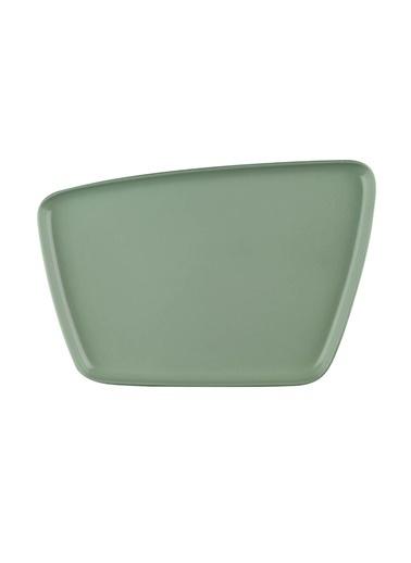 Kütahya Porselen Arp 21X13,5 Cm Düz Tabak Yeşil Yeşil